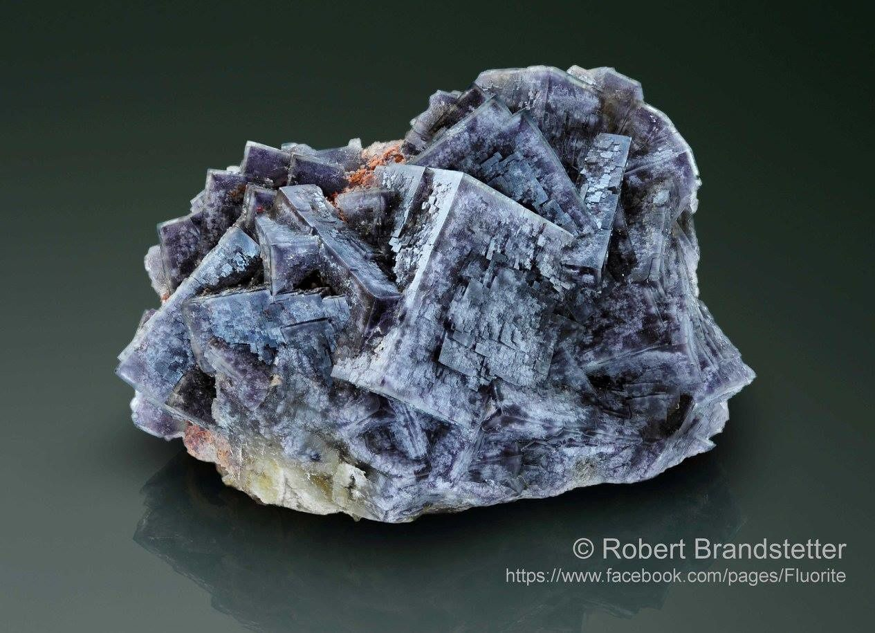 Fluorite from Saxony (specimen and photo by Robert Brandstetter)