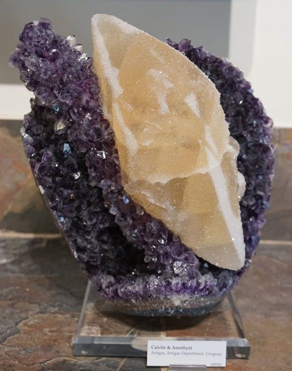 Calcite on Amethyst from Uruguay (private collection)