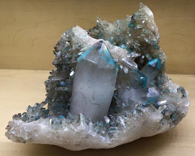 Quartz with Ajoite from Messina Area, Messina, South Africa (Tucson Show)