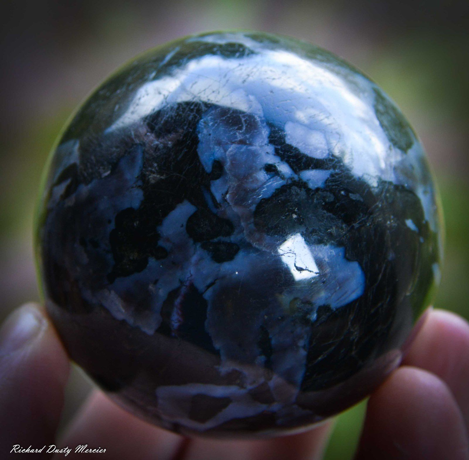 Gabbro Sphere from Madagascar (size: Small Cabinet)