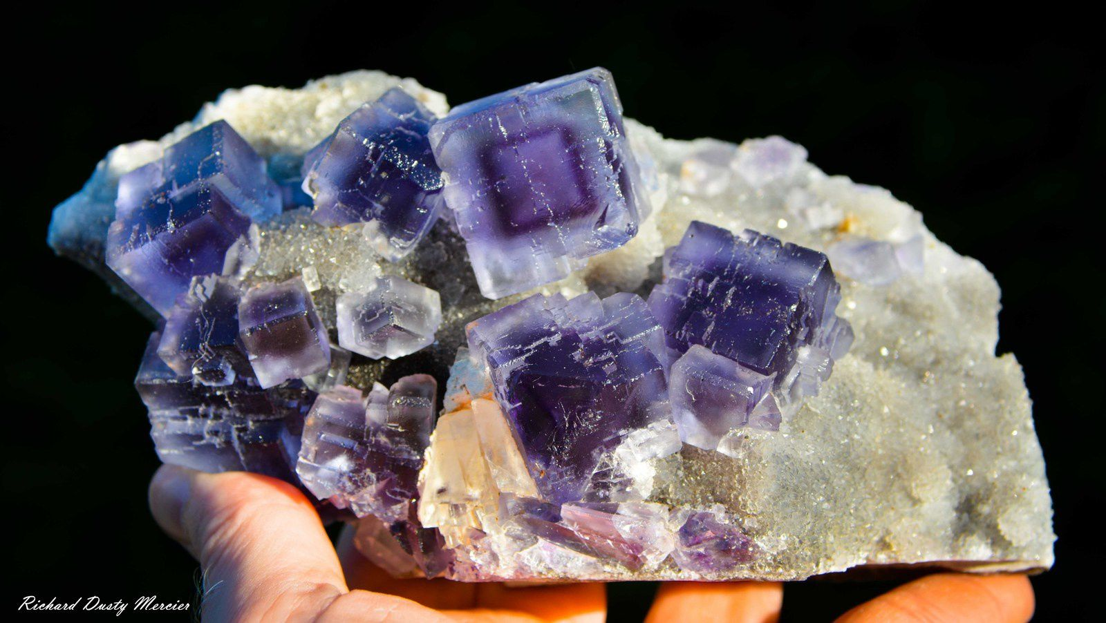 Fluorite from La Viesca, Spain (Specimen and Photo: Richard Dusty Mercier)