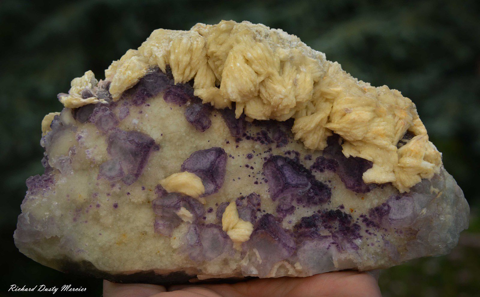 Fluorite Barite from Chenzu, China