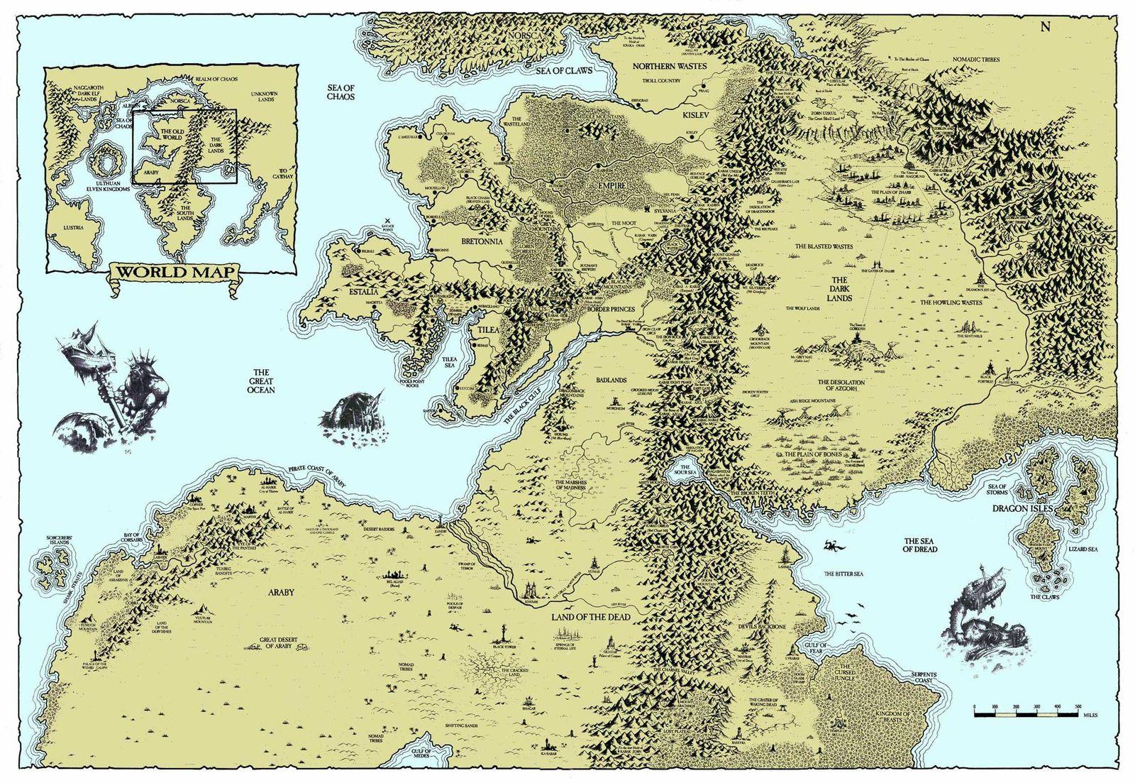 Warhammer : Cartes de l'Empire et du Vieux Monde