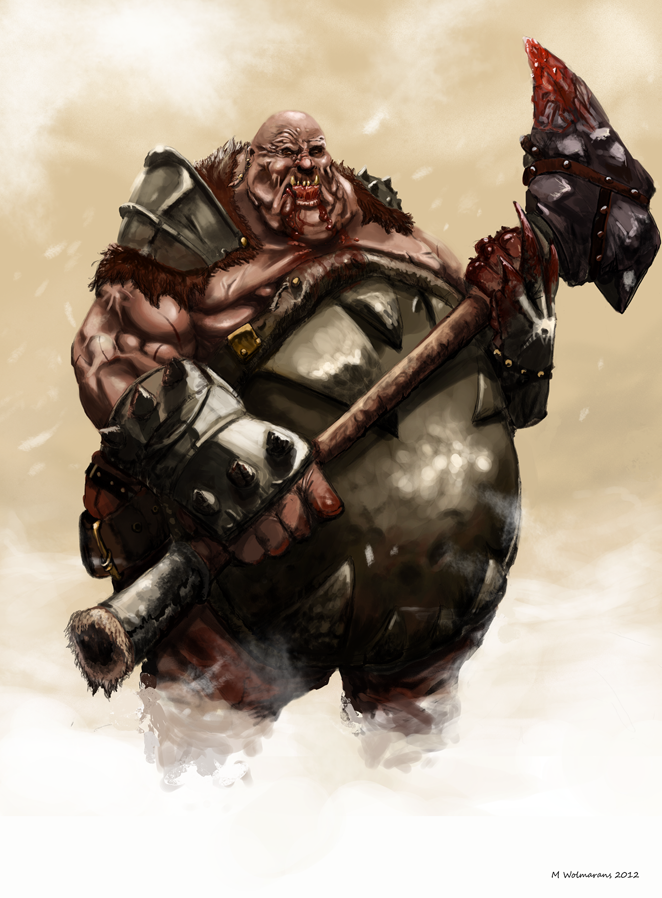 how to draw fat ogres