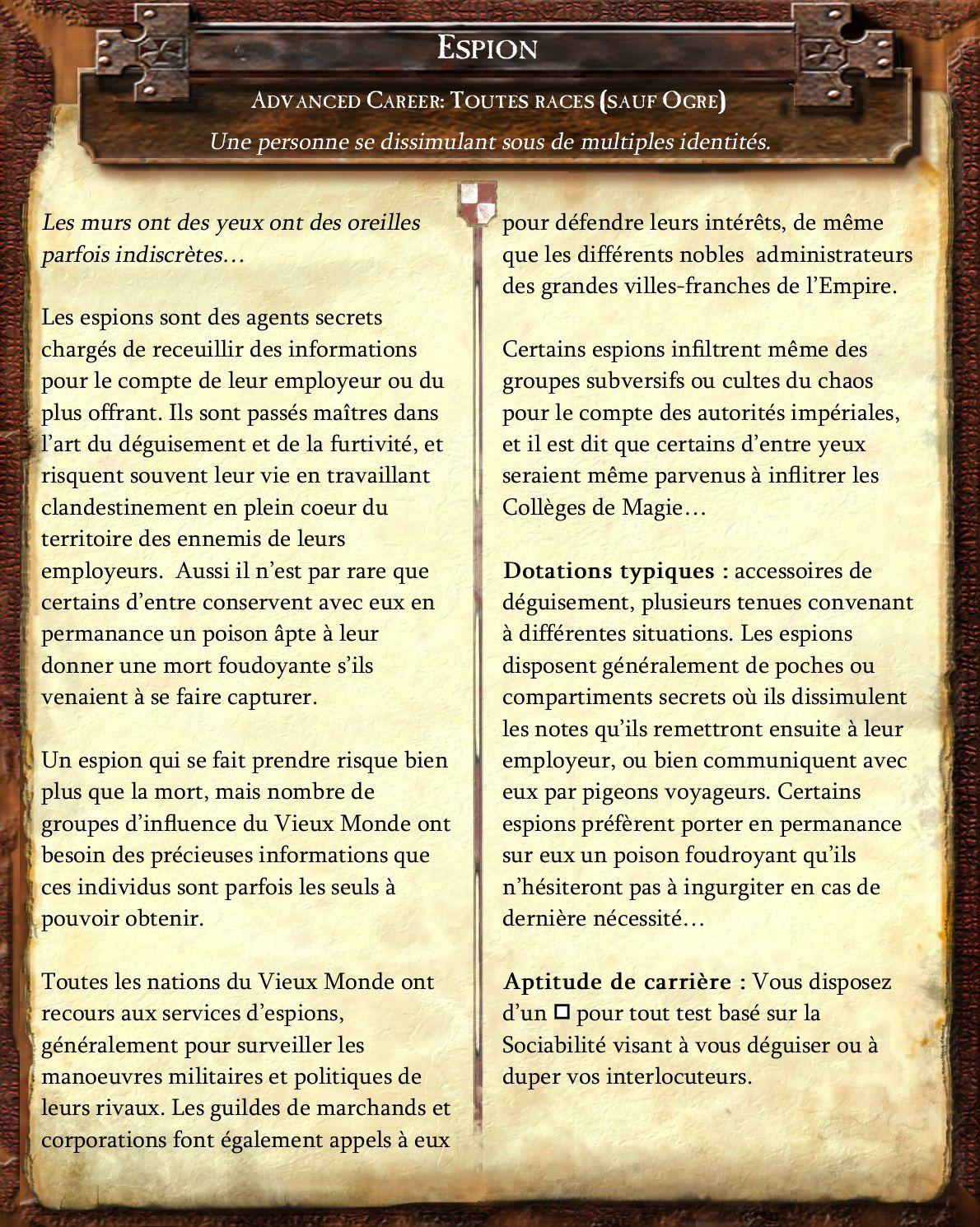 [Warhammer 3] Neuf nouvelles carrières de filous et brigands