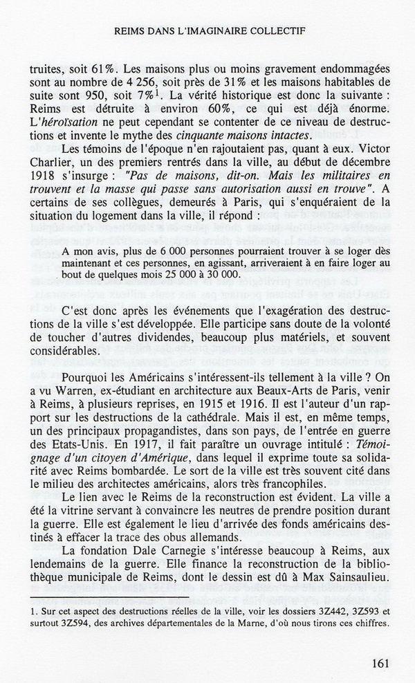 Etat du centre de Reims... octobre 1918