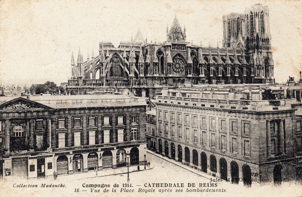 Carte postale reims 14 18 - Carte de visite reims ...