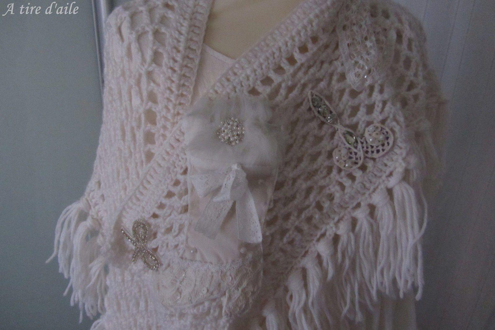 Autre robe en lin blanc et son écharpe
