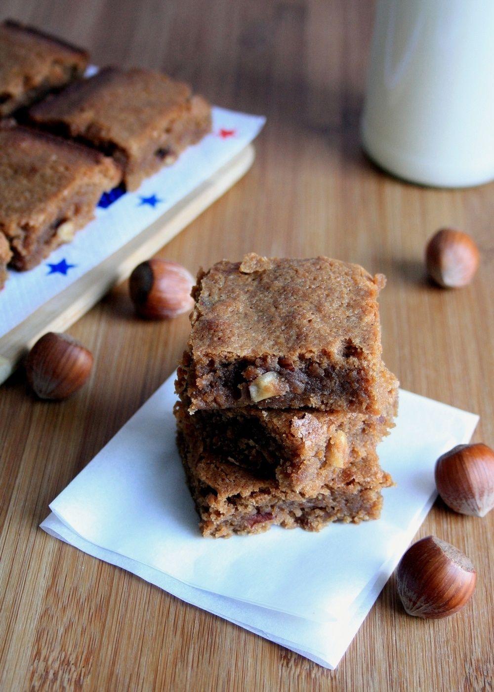 Brownie à la praline et aux noisettes