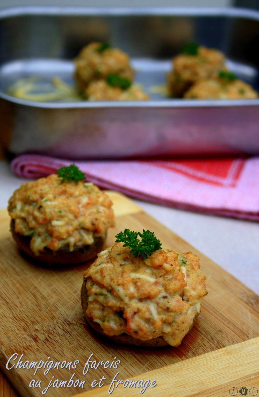 Extrem Champignons farcis au jambon et fromage - Amandine Cooking QX87