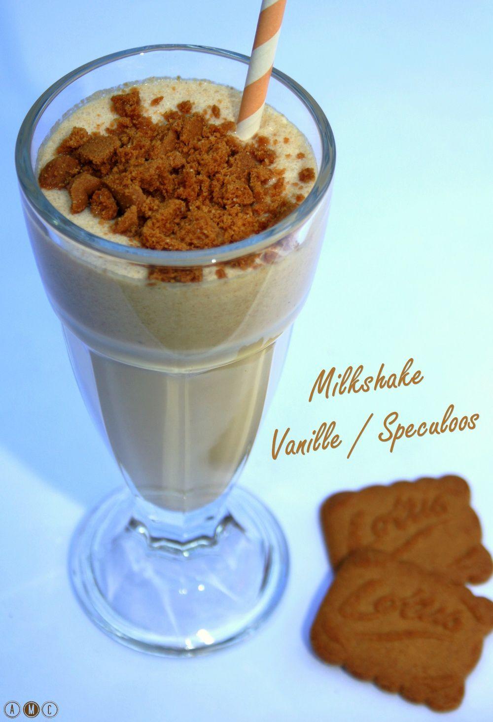 Milkshake vanille et spéculoos