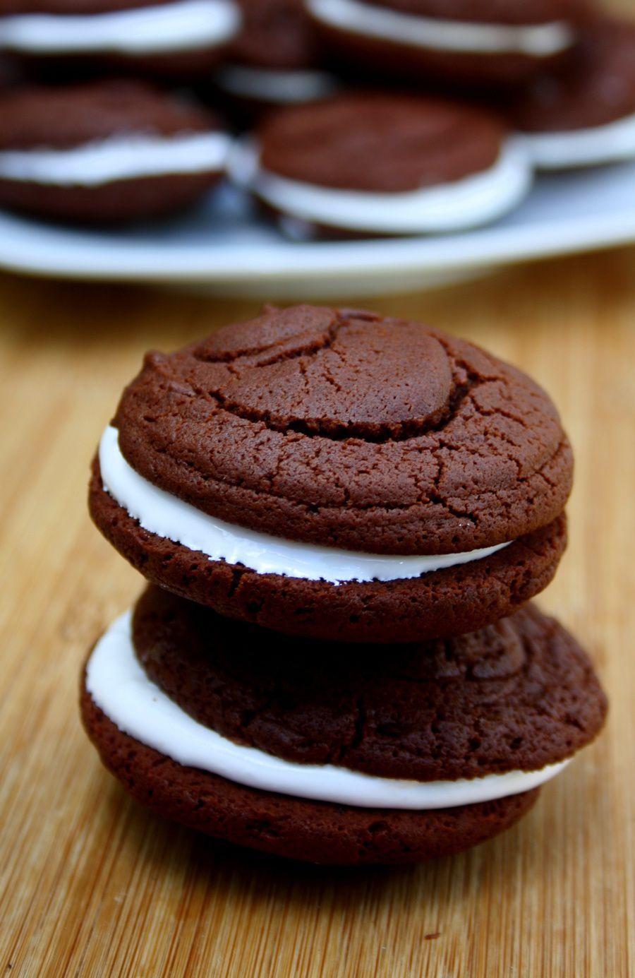 Whoopie pie {chocolat & guimauve}