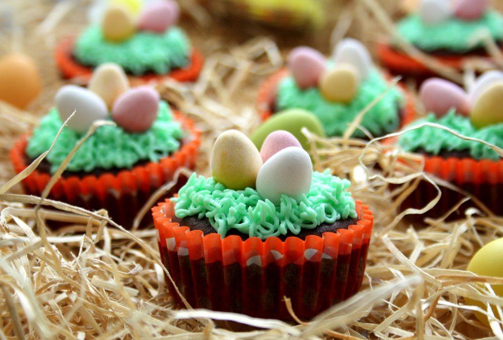 Cupcakes de Pâques au chocolat et vanille