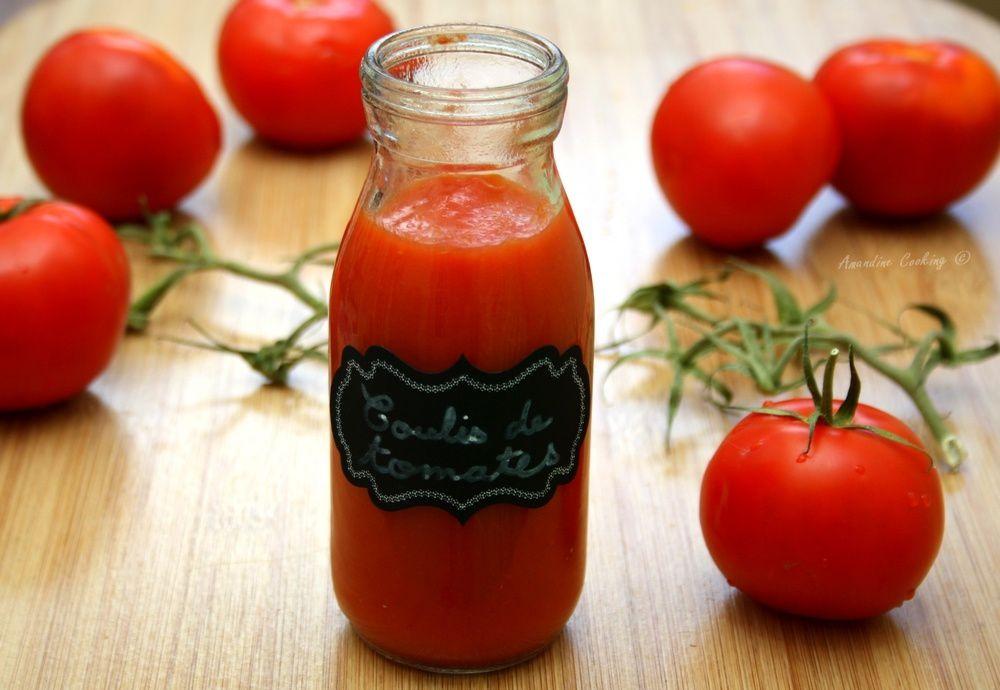 Coulis de tomates maison
