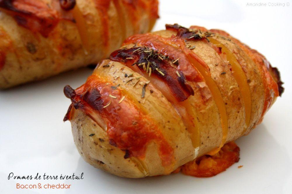 Pommes de terre éventail au bacon et cheddar