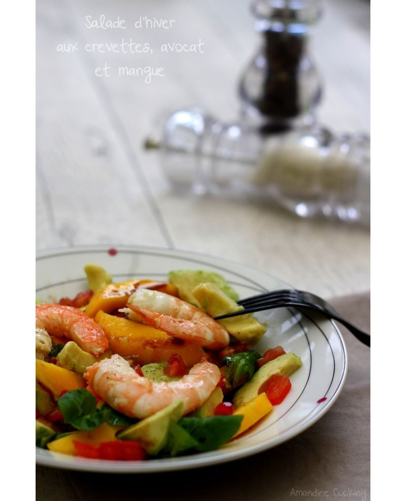 salade d 39 hiver crevettes avocat et mangue blogs de cuisine. Black Bedroom Furniture Sets. Home Design Ideas