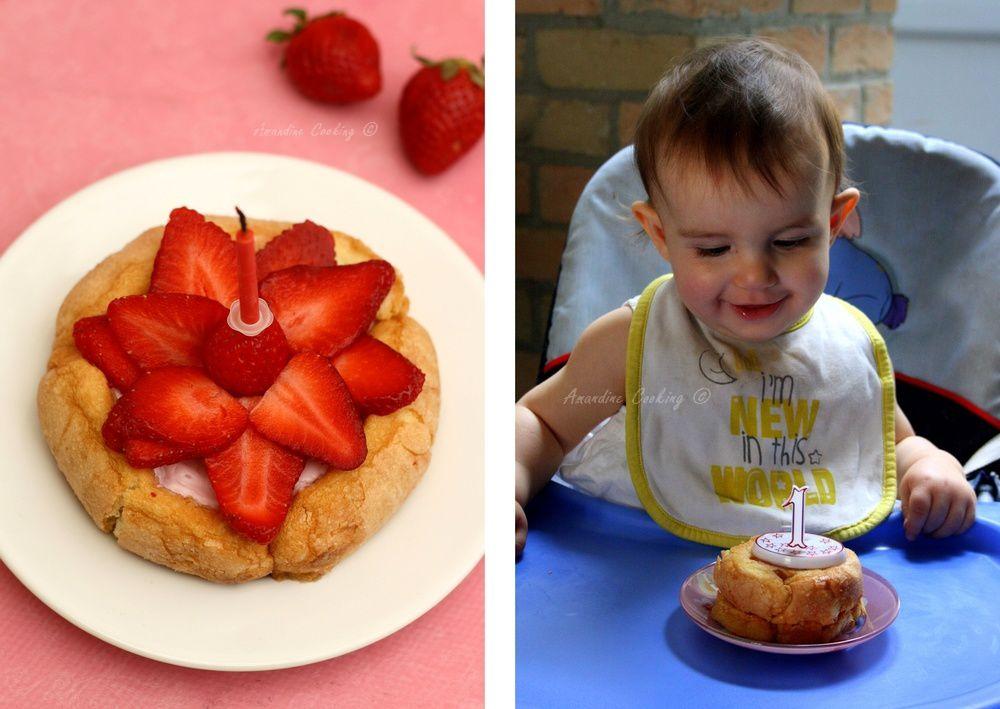 Charlotte aux fraises pour bébé