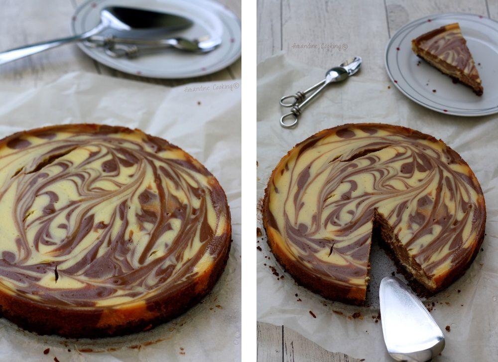 Cheesecake marbré aux deux chocolats