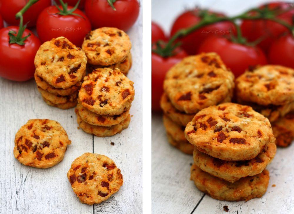 cookies sal s aux tomates s ch es et chorizo amandine