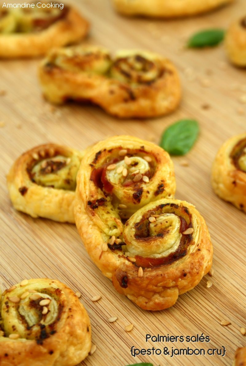 palmiers sal s pesto jambon cru amandine cooking. Black Bedroom Furniture Sets. Home Design Ideas
