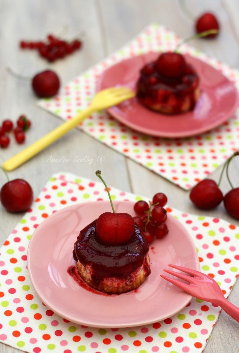 Mini cheesecake aux fruits rouges