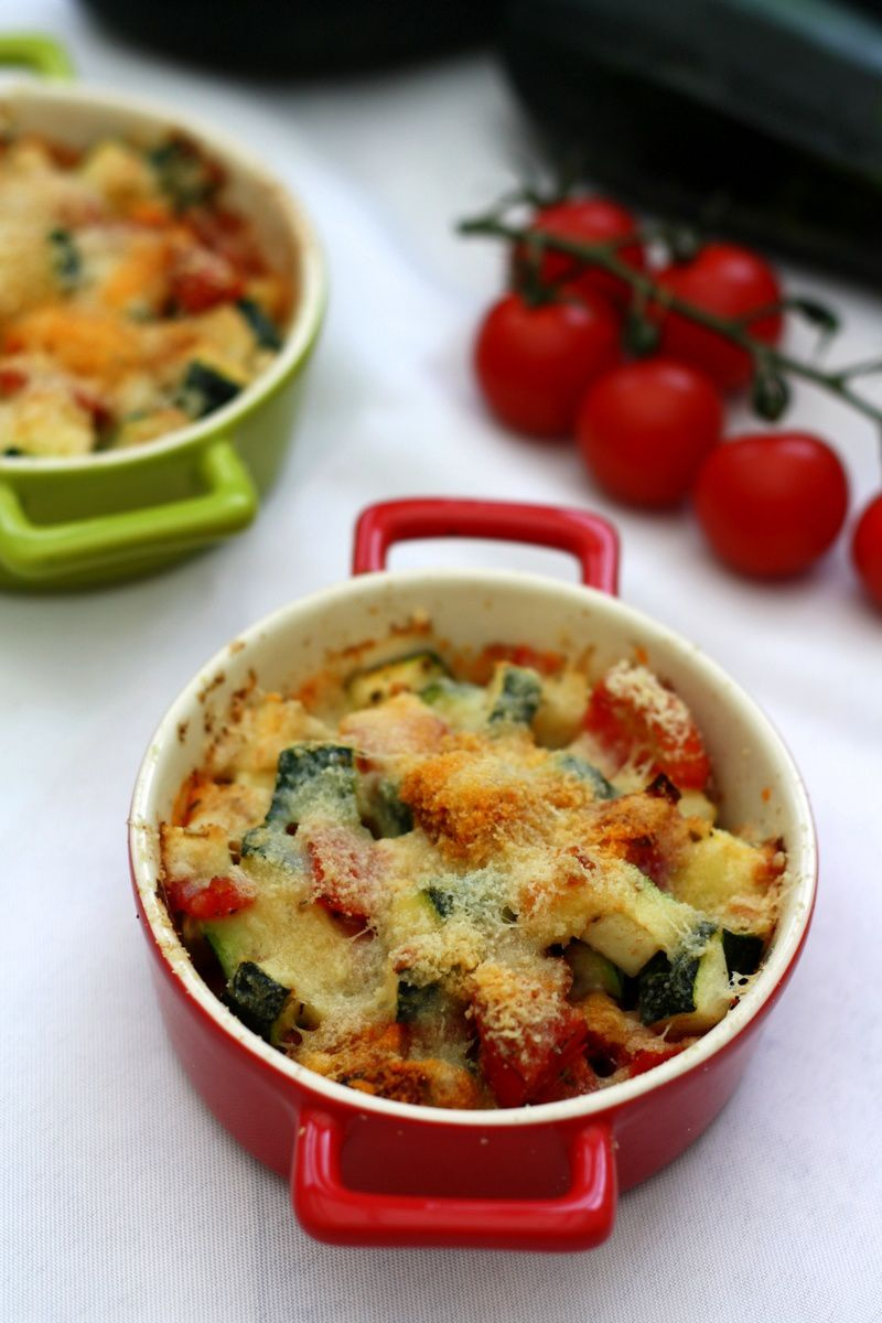 gratin de courgettes et tomates au parmesan amandine cooking. Black Bedroom Furniture Sets. Home Design Ideas