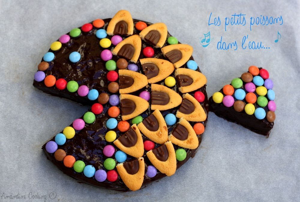 Gateau D Anniversaire Poisson Au Chocolat Amandine Cooking
