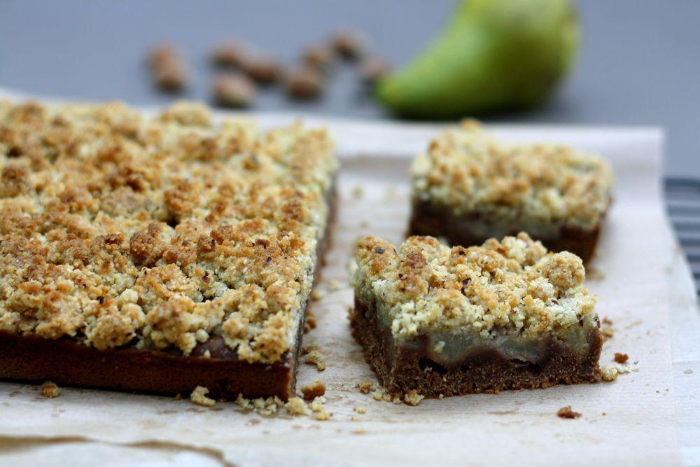 Crumb cake aux poires et nutella (gâteau crumble)