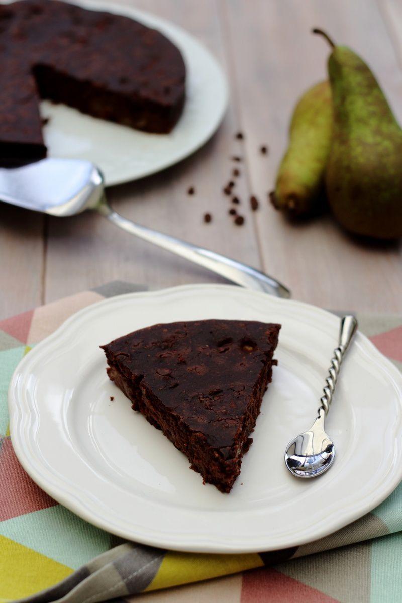 Gâteau au chocolat et poires (vegan)