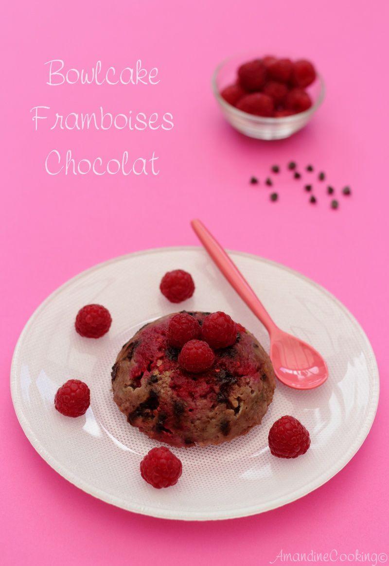 Bowlcake aux framboises et chocolat