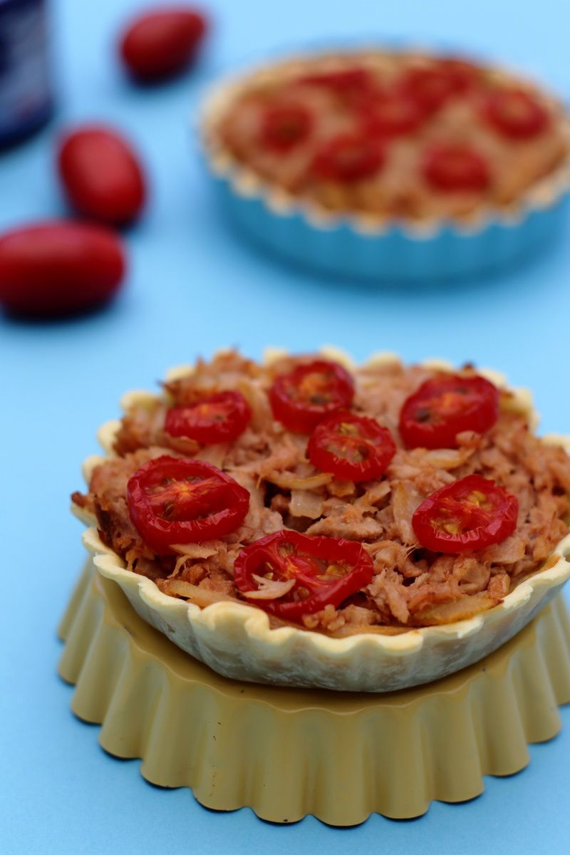 Tartelettes au thon et tomates cerises