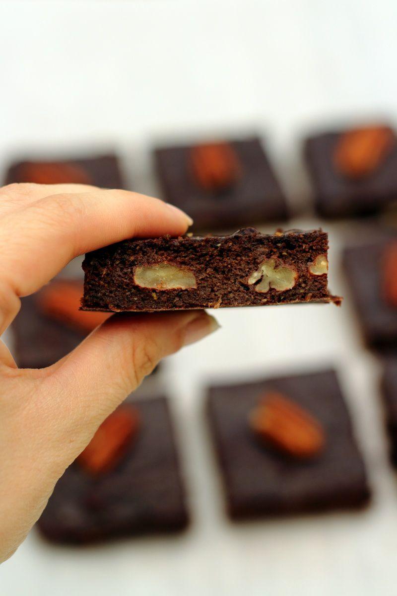 Brownie sans matière grasse - sain et léger (à la courgette)