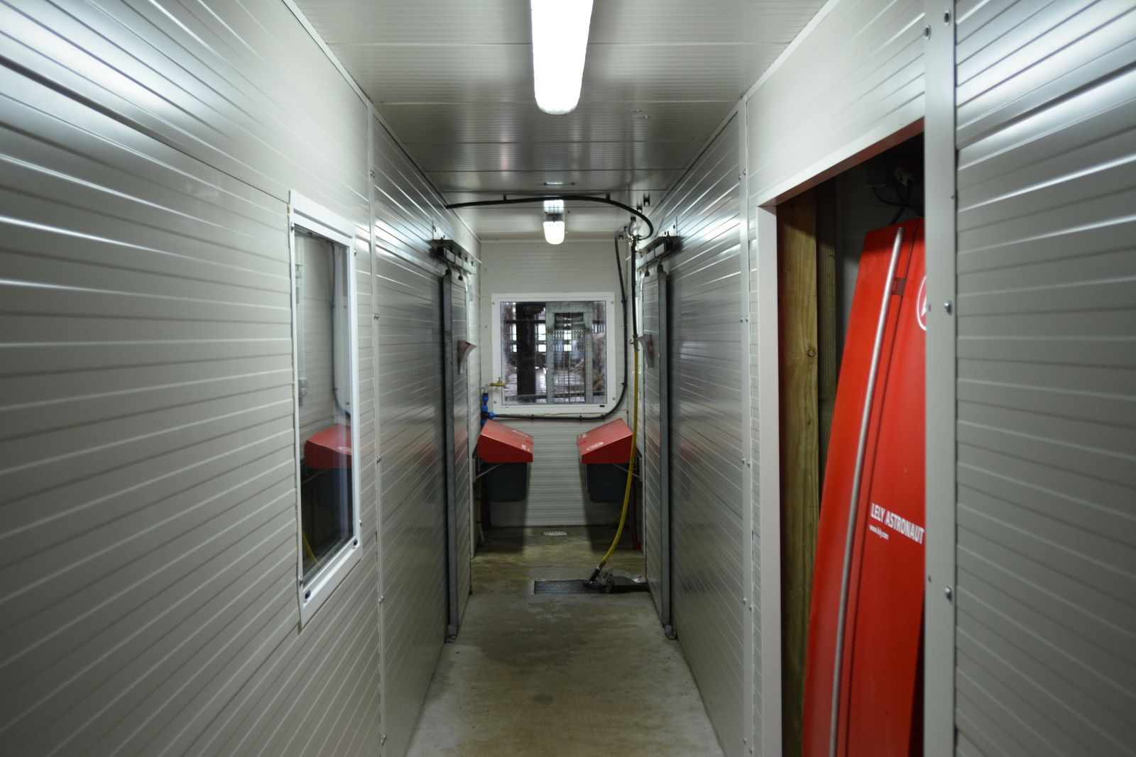 Salle de traite et robot de traite