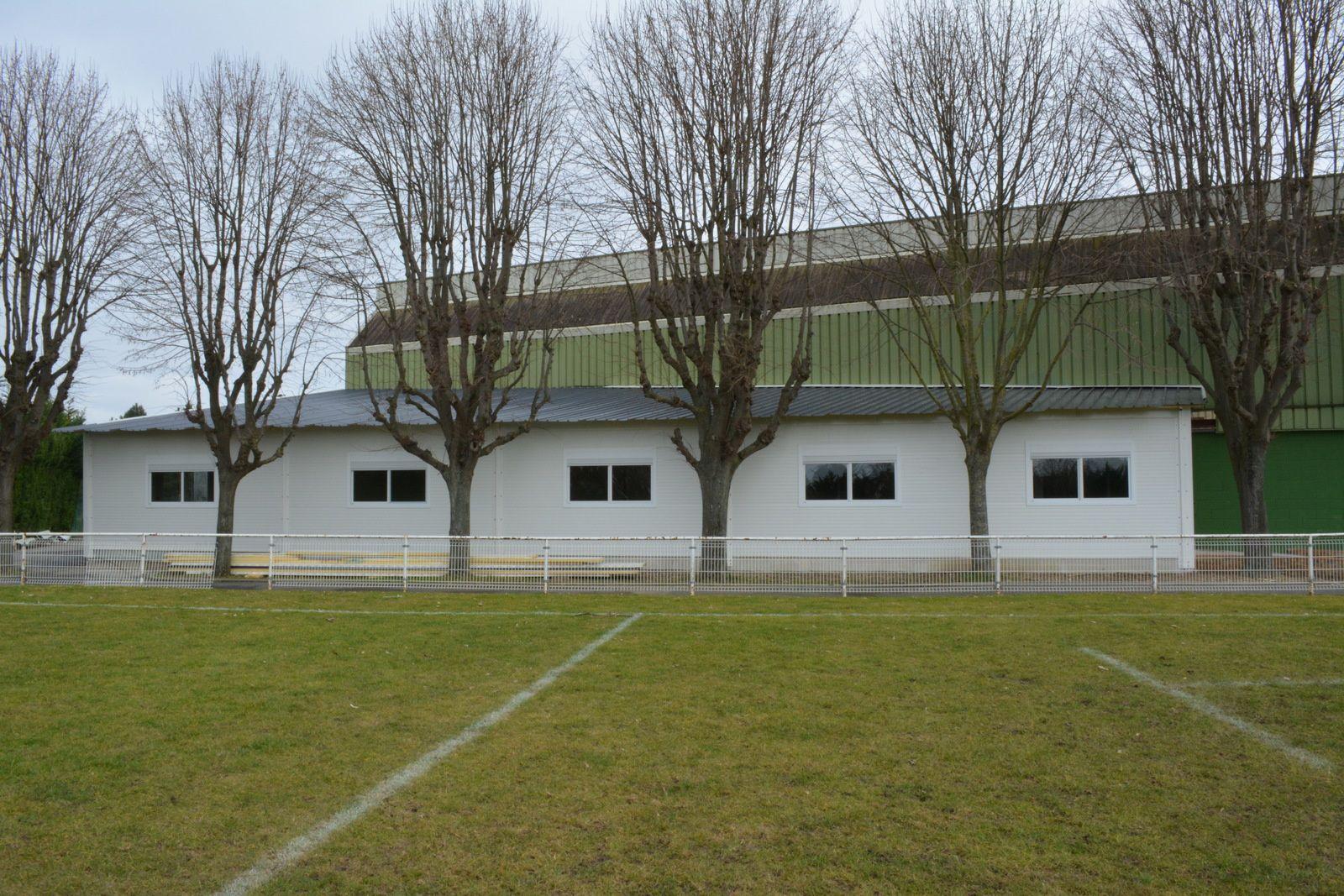 Le Club House du SCCR en modulaire en kit