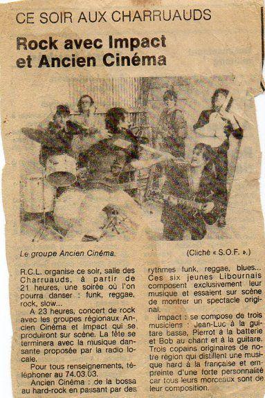 """Dans les années """"1980"""" nous avions avec Bill (mon frère) formé 3 groupes de musiques amplifiées dont """"Ancien cinéma"""" avec un ami Allemand. Eddy Gabler nous a accompagné quelques années. Il est maintenant musicien professionnel et bien connu de la scène Allemande. Je vous propose un lien vers son site internet."""