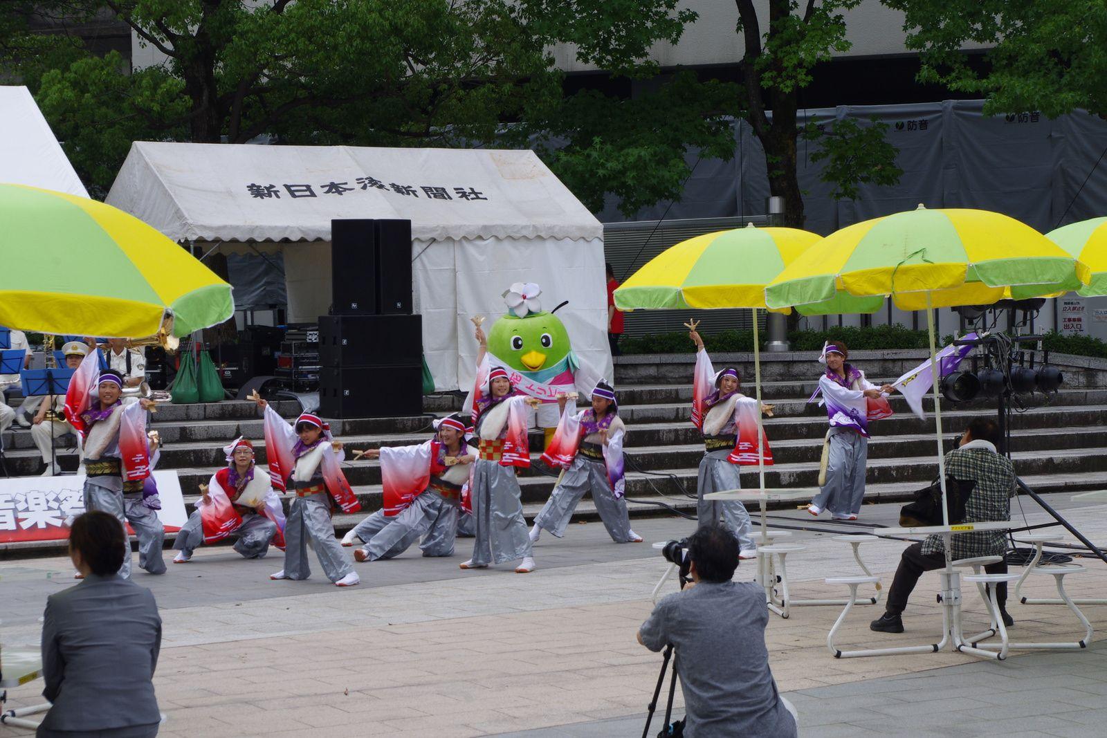 fête à la gare de Tottori
