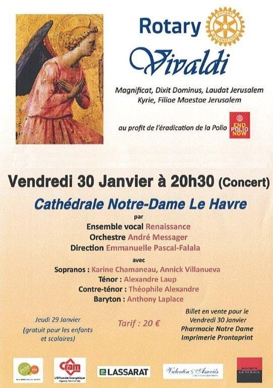 Concert Vivaldi, Vendredi 30 Janvier, 20h30, Cathédrale Notre-Dame du Havre