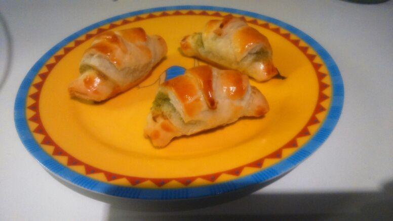 Mini-croissants aux poireaux