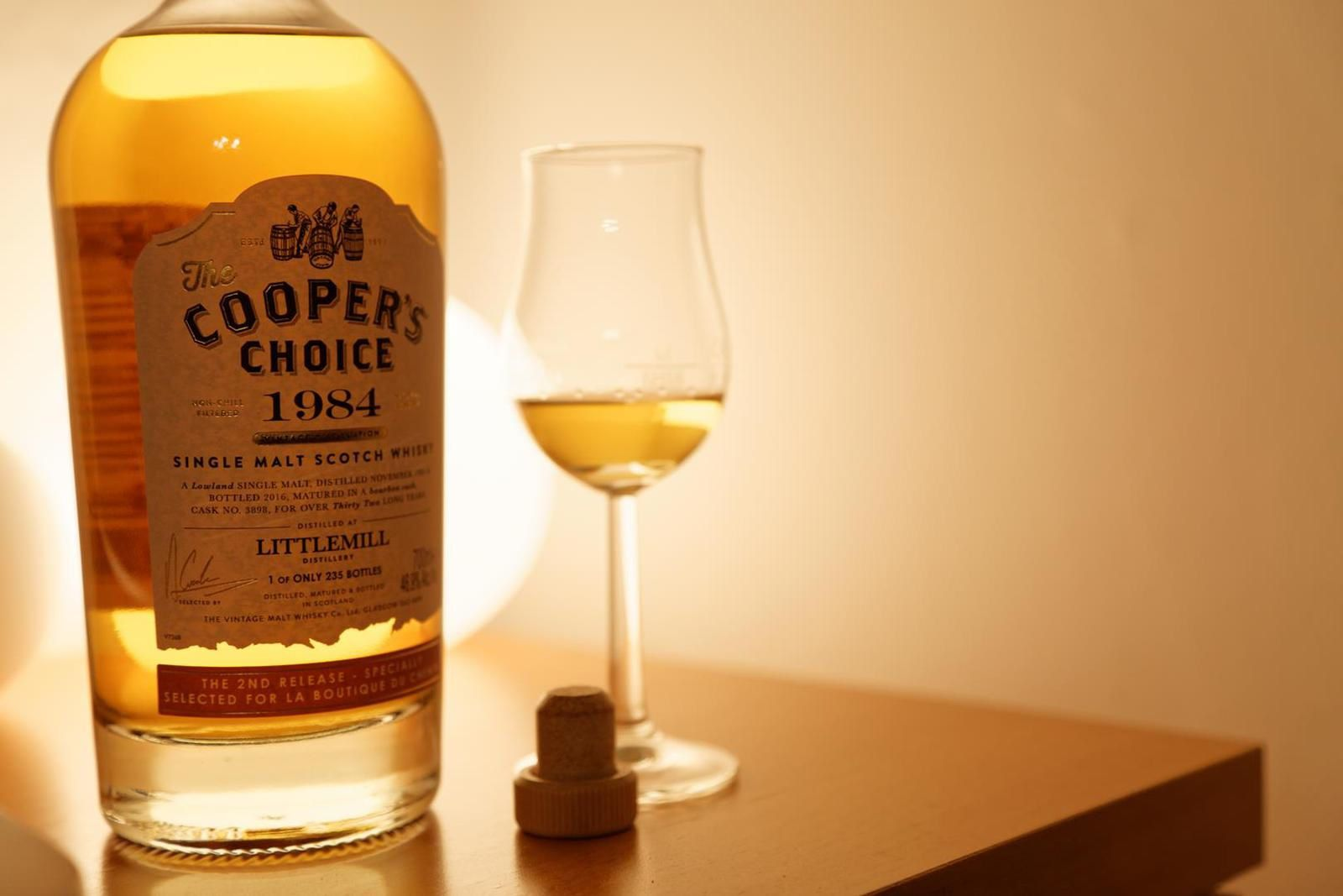 Littlemill 1984/2016 The Cooper's Choice pour La Boutique du Chemin, 32 ans, 46.9%