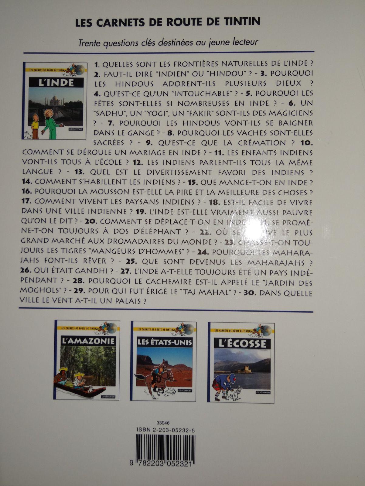 L'Inde - Les carnets de route de Tintin