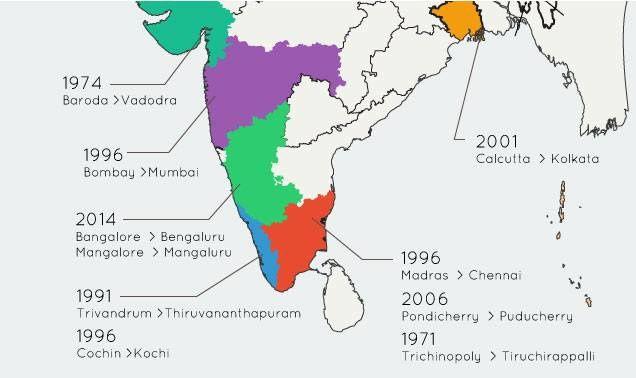 Quand les villes indiennes se renomment