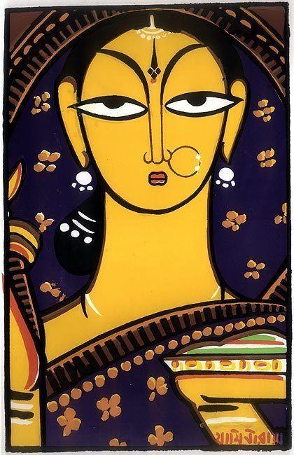 Bengali Lady - Jamini Roy