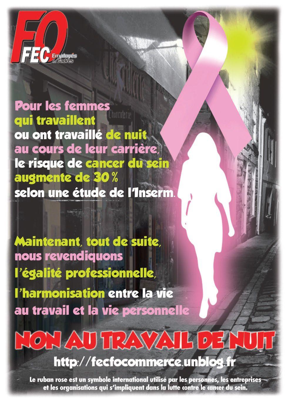 Cancer du sein – Le travail des femmes s'assombrit de plus en plus