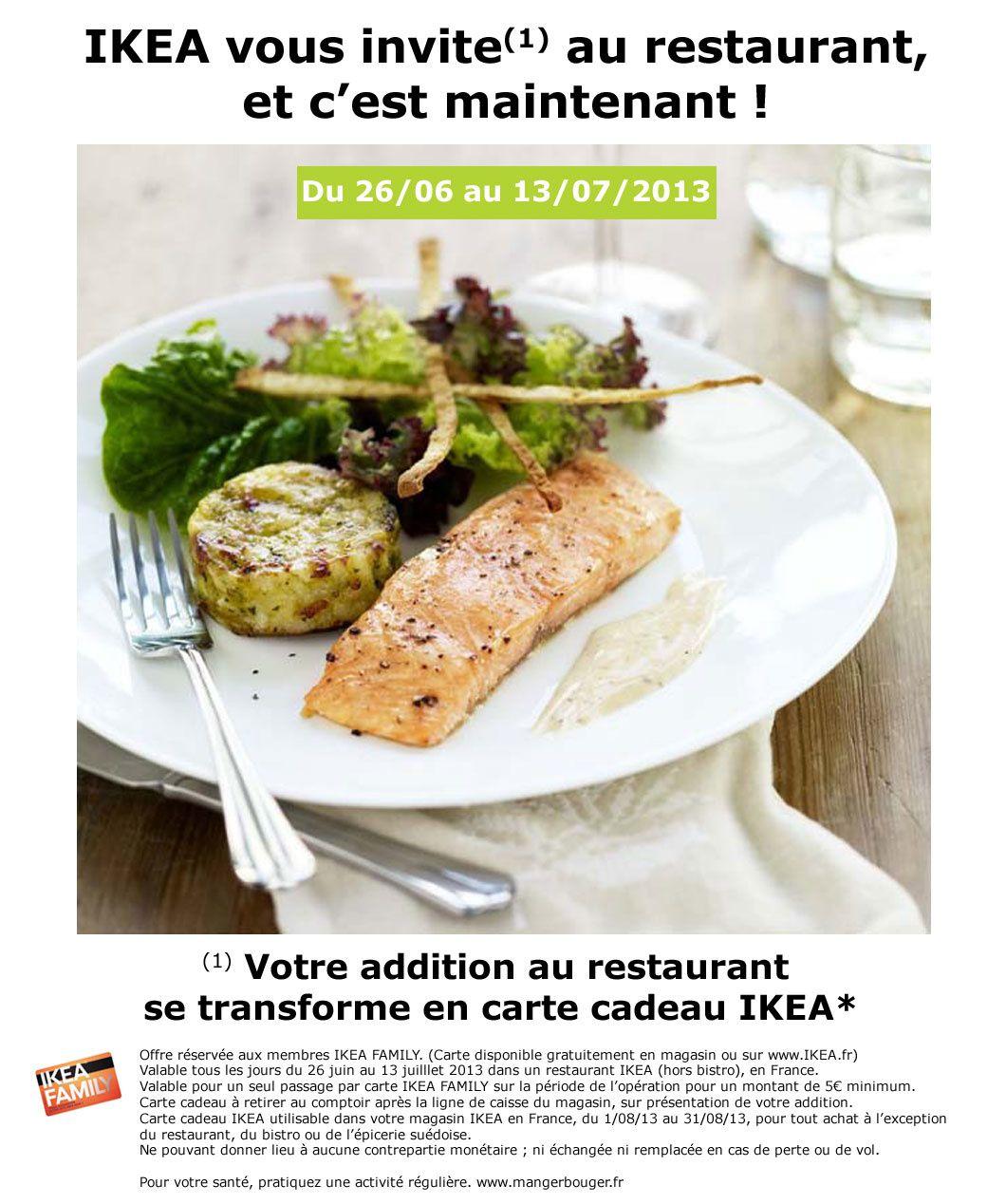 Ikea vous invite au restaurant l 39 astucieux du net - Carte cadeau ikea france ...