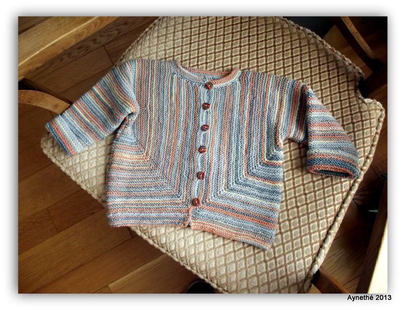 Baby surprise jacket en fil Adriafil