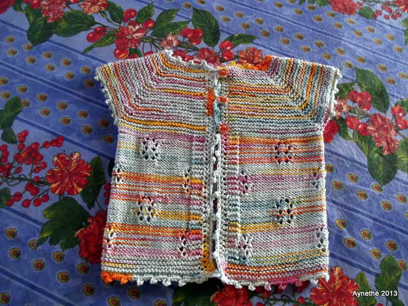 Sorbet d'été , Top down tricot layette