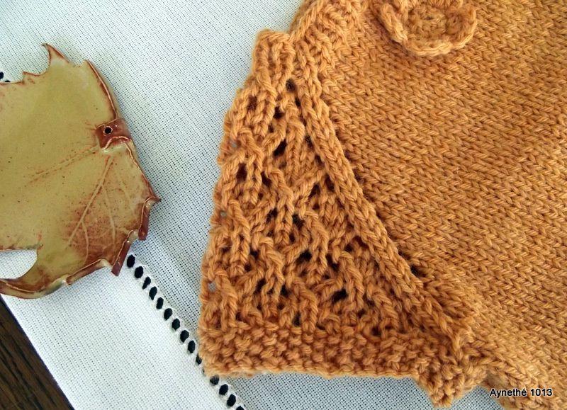 &quot&#x3B;Potiron&quot&#x3B; un petit pull sans manches au tricot sans couture