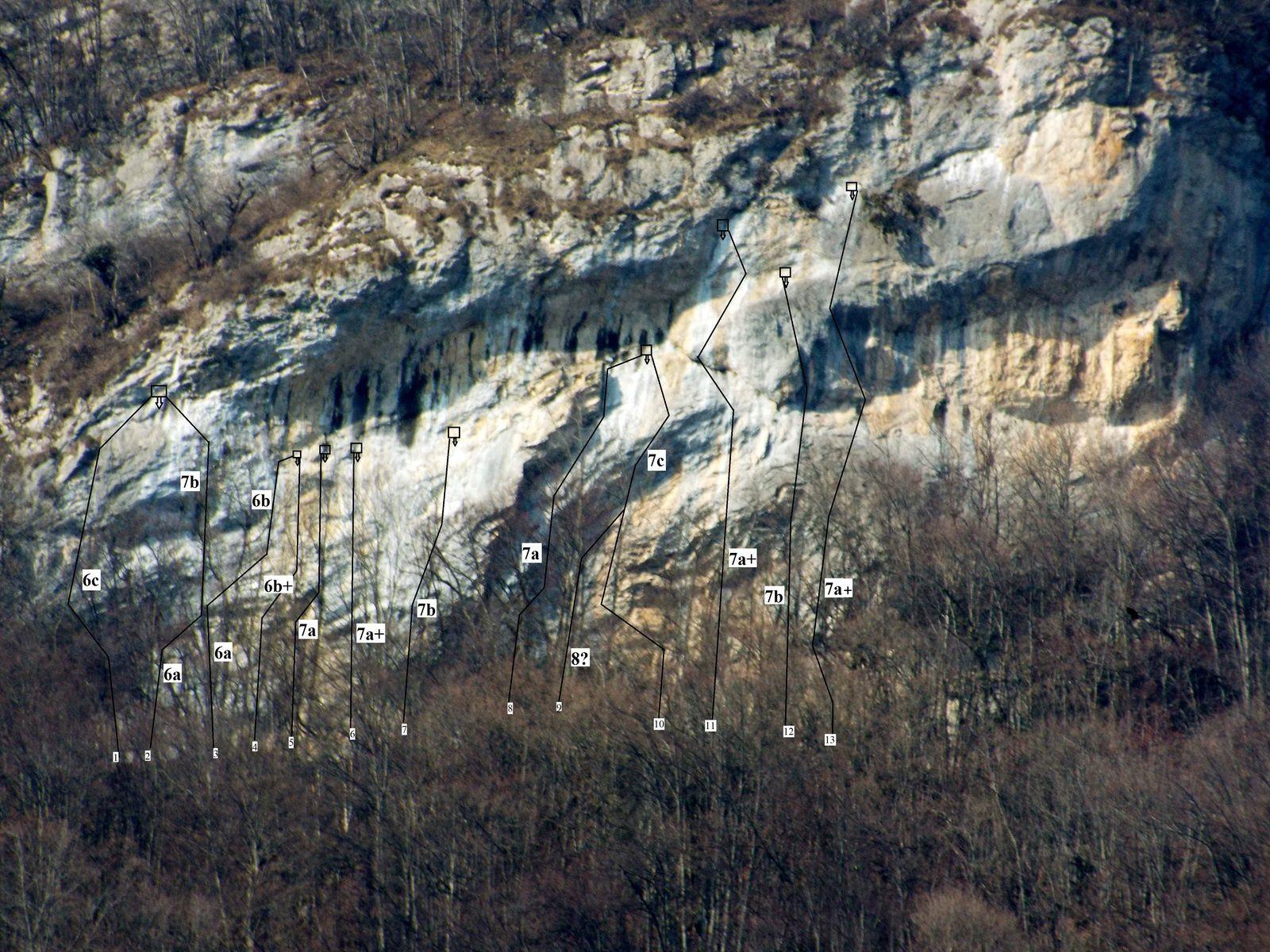 Topo falaise du Bavay (Ugine)