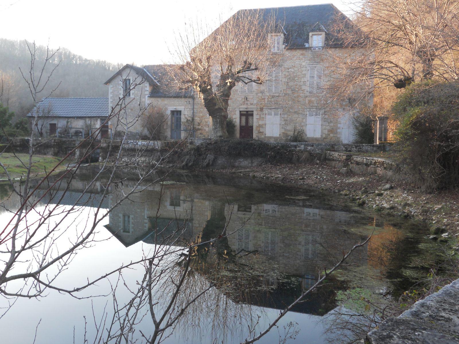 Source du Coly où Nicolas Hulot a plongé en 1994