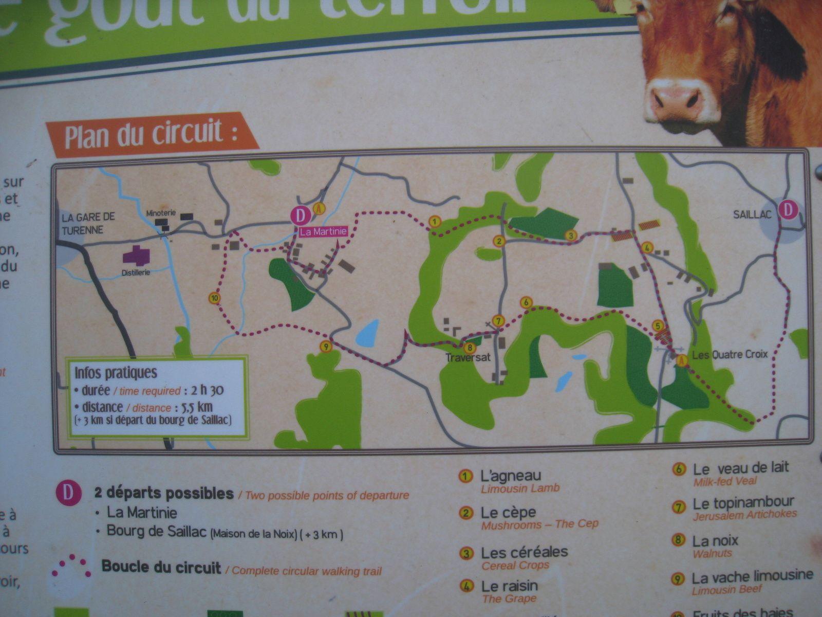 Nous avons même trouvé le plan de l'une de nos prochaines randonnées.